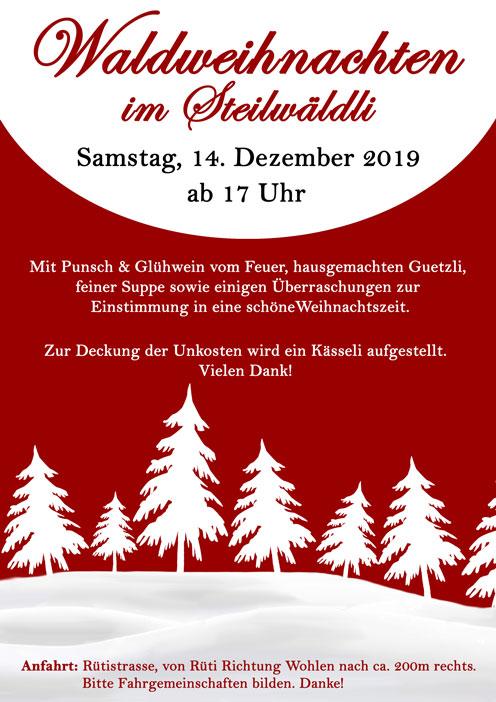 Waldweihnachten @ Steilwäldli